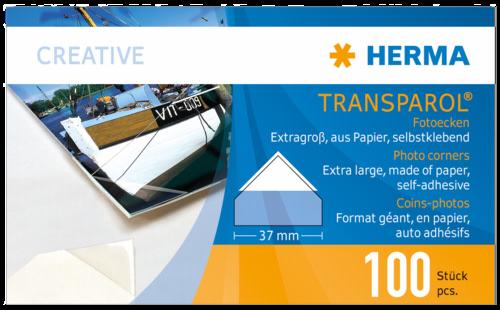 Herma Transparol Fotoecken XXL 100 St. 2er-Streifen 1302