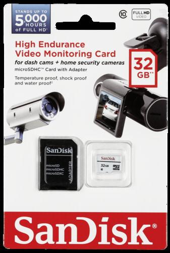 SanDisk High Video Monitoring microSDHC 32GB Class 10