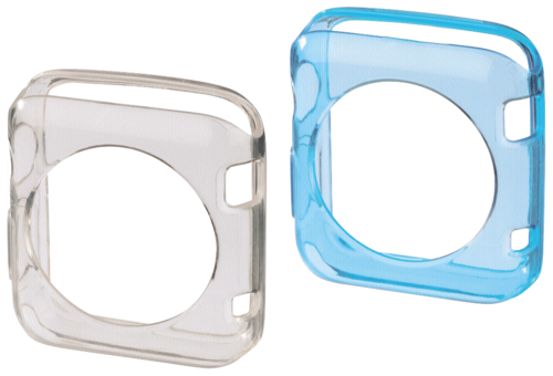 Hama Crystal Protective Cover Set Apple Watch 38mm trans/blue