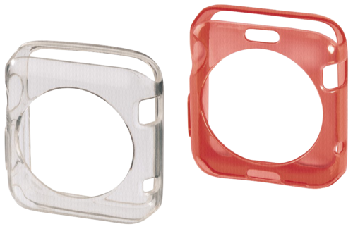 Hama Crystal Protective Cover Set Apple Watch 38mm trans/red