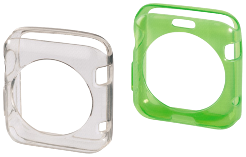 Hama Crystal Protective Cover Set Apple Watch 38mm trans/green