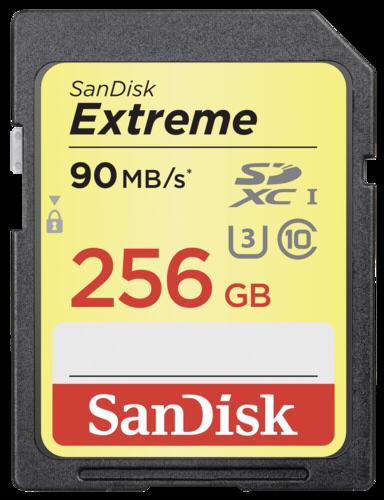 SanDisk Extreme SDXC 256GB 90MB/s UHS-I