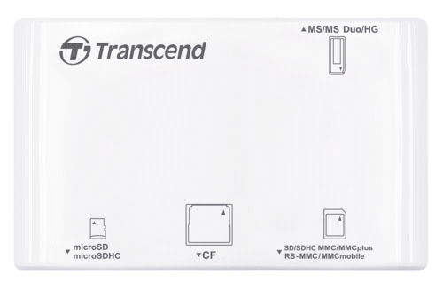 Transcend Multi Card Reader P8 White
