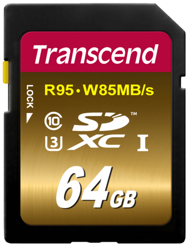 Transcend SDXC 64GB Class 10 UHS-I U3 Ultimate X