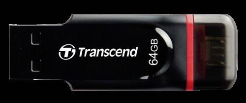 Transcend JetFlash 340 OTG 64GB microUSB + USB 2.0