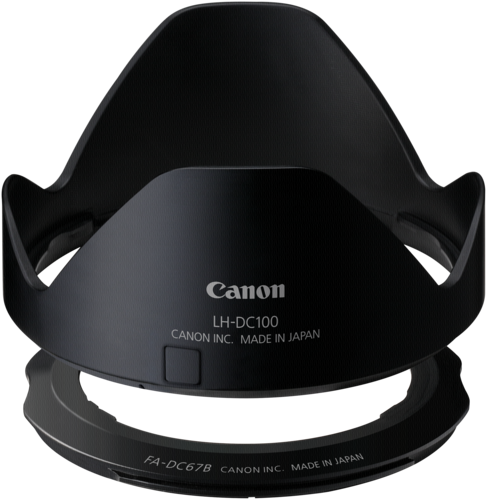 Canon LH-DC100 Lens Hood + FA-DC67B Lens Adapter