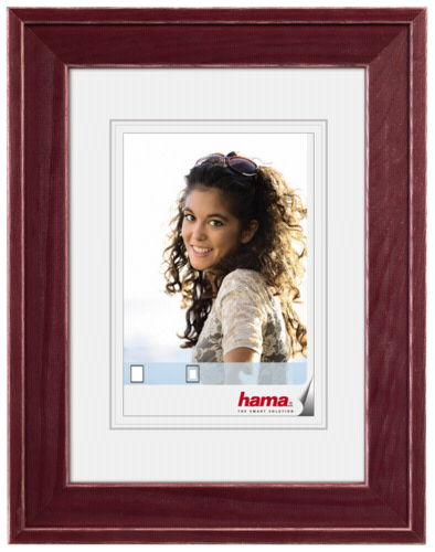 Hama Laura Wood 13x18 bordeaux