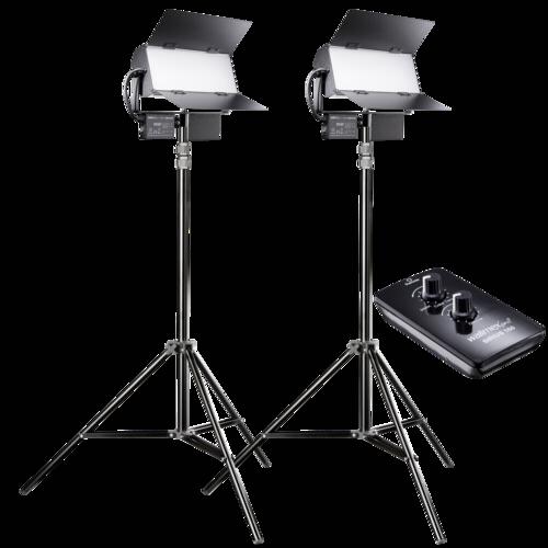 Walimex Pro Sirius 160 LED 65W Daylight Fluorescent Light 2-Pack