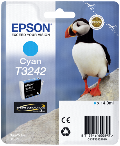 Epson Cartridge T3242 Cyan