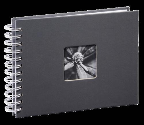 Hama Fine Art Spiral Grey 24x17 - 50 white pages