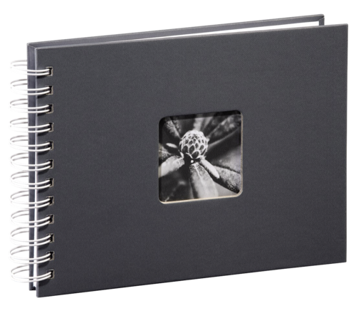 Hama Fine Art Spiral Grey 28x24 - 50 white pages