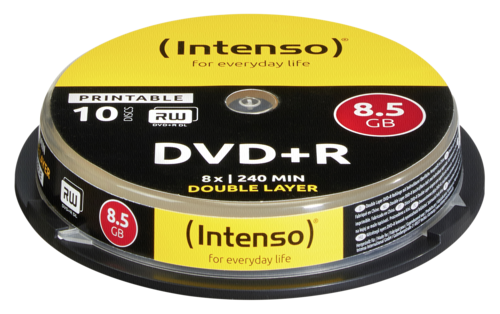 Intenso DVD+R 8.5GB 8x speed Double Layer Printable 1x10