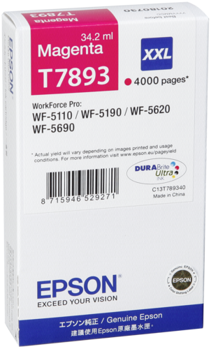 Epson Cartridge T7893 DURABrite Magenta XXL