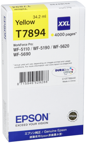 Epson Cartridge T7894 DURABrite Yellow XXL