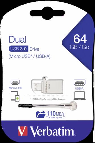 Verbatim Store n Go OTG Micro Drive 64GB USB 3.0