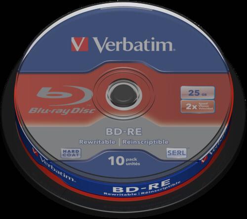 Verbatim BD-RE Blu-Ray 25GB 2x Speed Cakebox 1x10
