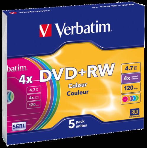 Verbatim DVD+RW 4.7GB 4x Speed Slimcase 1x5