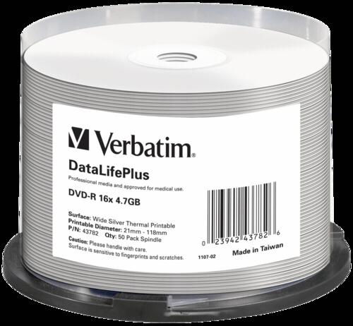 Verbatim DVD-R 4.7GB Wide Thermal Printable 1x50