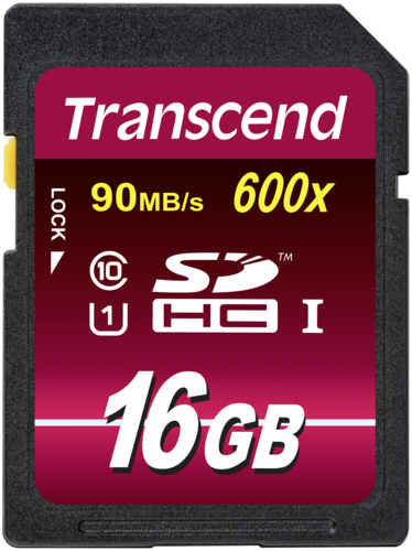 Transcend SDHC 16GB Class 10 600x UHS-I