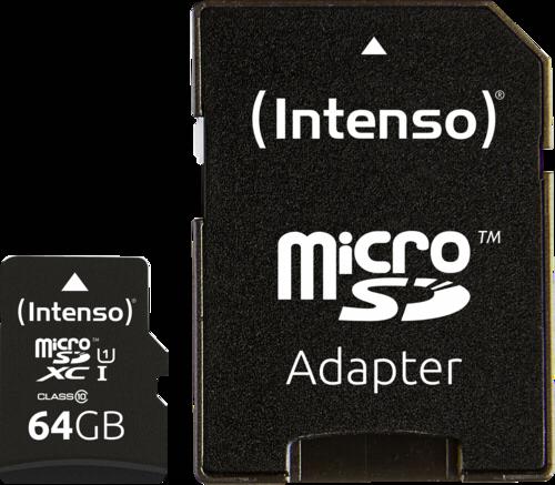 Intenso microSDXC 64GB Premium + Adapter