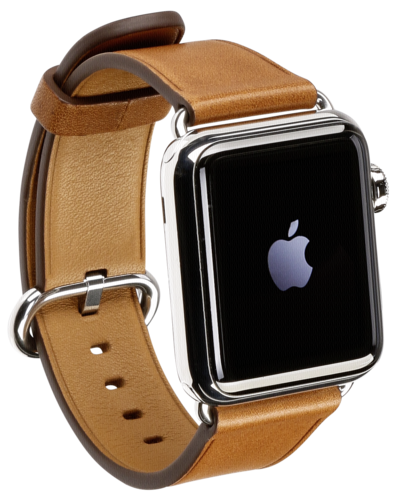 Apple Watch 38mm Stainless Steel Saddle Brown Classic