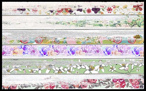 Tetenal Savage Background 1.35x5.5m Vintage Floral