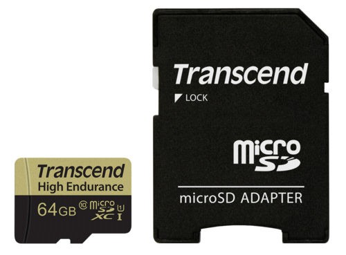 Transcend microSDXC 64GB Class 10 MLC High Endurance + Adapter
