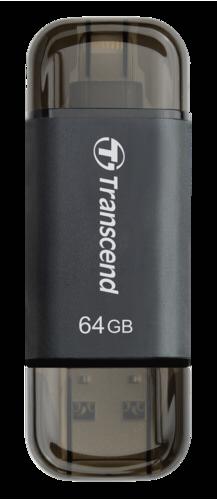 Transcend JetDrive Go 300 64GB OTG Lightning + USB 3.1 Gen1 Black