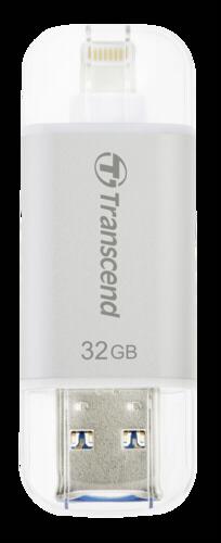 Transcend JetDrive Go 300 32GB OTG Lightning + USB 3.1 Gen1 Silver