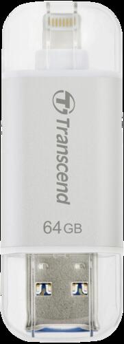 Transcend JetDrive Go 300 64GB OTG Lightning + USB 3.1 Gen1 Silver