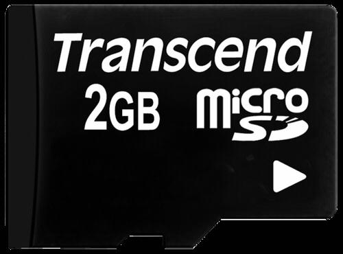 Transcend microSDHC Card 2GB + Adapter