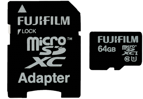Fujifilm microSDXC 64GB Class 10 UHS-I + adapter