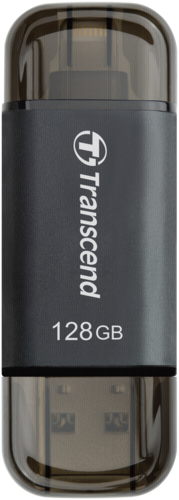 Transcend JetDrive Go 300 128GB Lightning + USB 3.1 Gen1 black