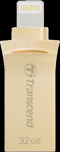 Transcend JetDrive Go 500 32GB Lightning + USB 3.1 Gen1 gold