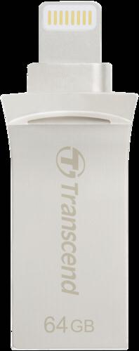 Transcend JetDrive Go 500 64GB Lightning + USB 3.1 Gen1 silver