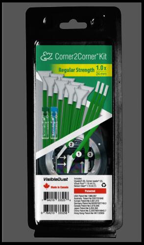Visible Dust EZ Corner2Corner Kit 1.0x regular strength