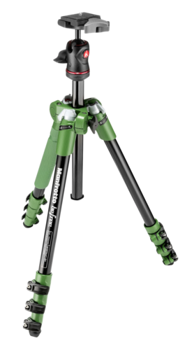 Manfrotto Befree Compact Travel Aluminum Tripod Green