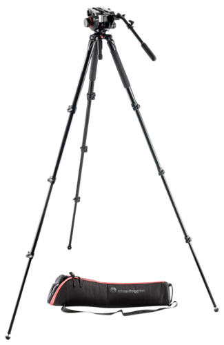 Manfrotto 504HD Head with 536 Carbon Fiber Tripod System
