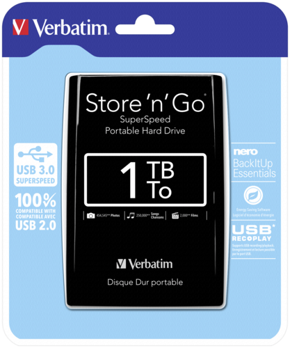 Verbatim Store n Go Portable 1000GB USB 3.0 Black