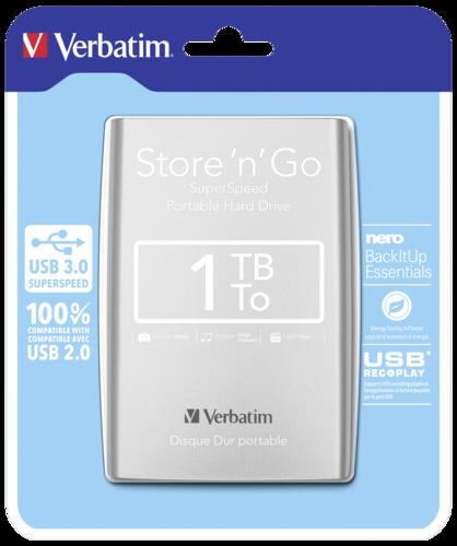 Verbatim Store n Go Portable 1000GB USB 3.0 Silver