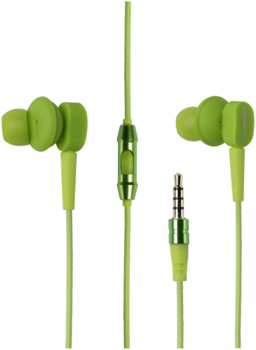 Boompods Earbuds Mic/Remote green