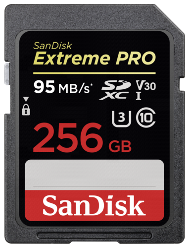 SanDisk Extreme Pro SDXC 256GB 95MB/s V30 U3
