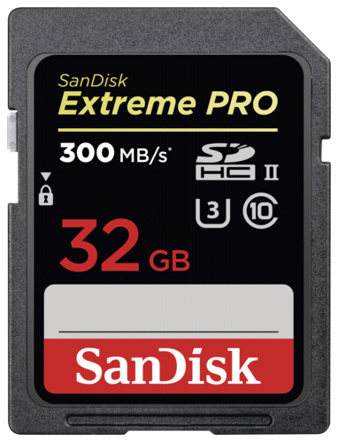 SanDisk Extreme Pro SDHC 32GB 300MB/s UHS-II