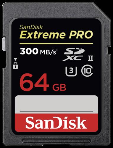 SanDisk Extreme Pro SDXC 64GB 300MB/s UHS-II