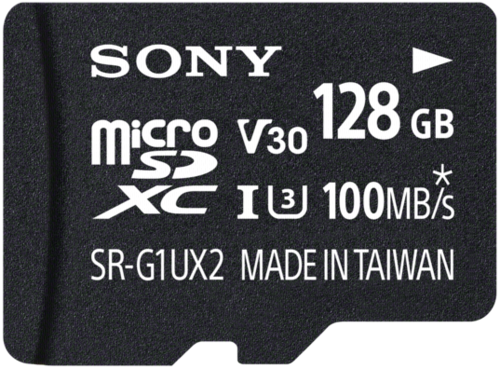 Sony microSDXC Expert 128GB Class 10 UHS-I U3 + Adapter