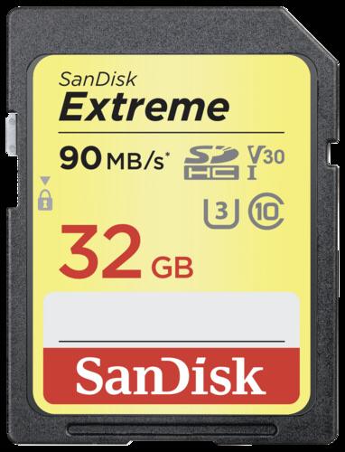 SanDisk Extreme SDHC 32GB 90MB/s V30