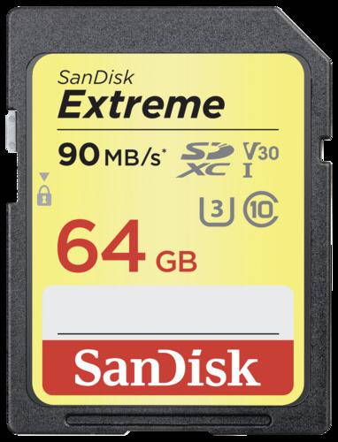 SanDisk Extreme SDXC 64GB 90MB/s V30