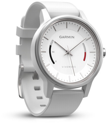 Garmin vivomove Sport white with sports strap