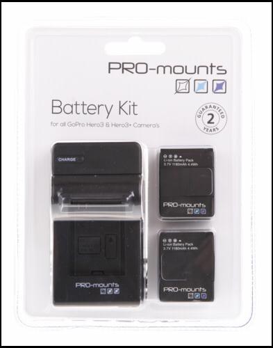 PRO-mounts Battery Kit HERO3, HERO3+