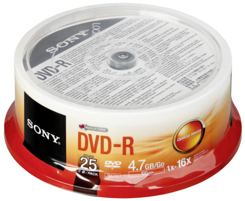 Sony DVD-R 4.7GB 16x speed 1x25